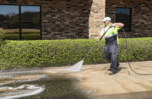 commercial concrete cleaning in bloomington